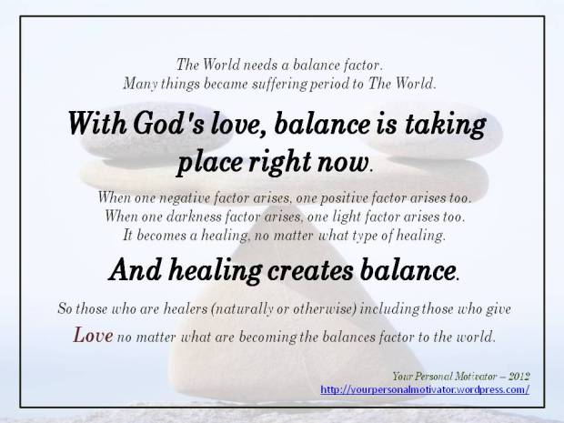 Be The Balance Factor With Love