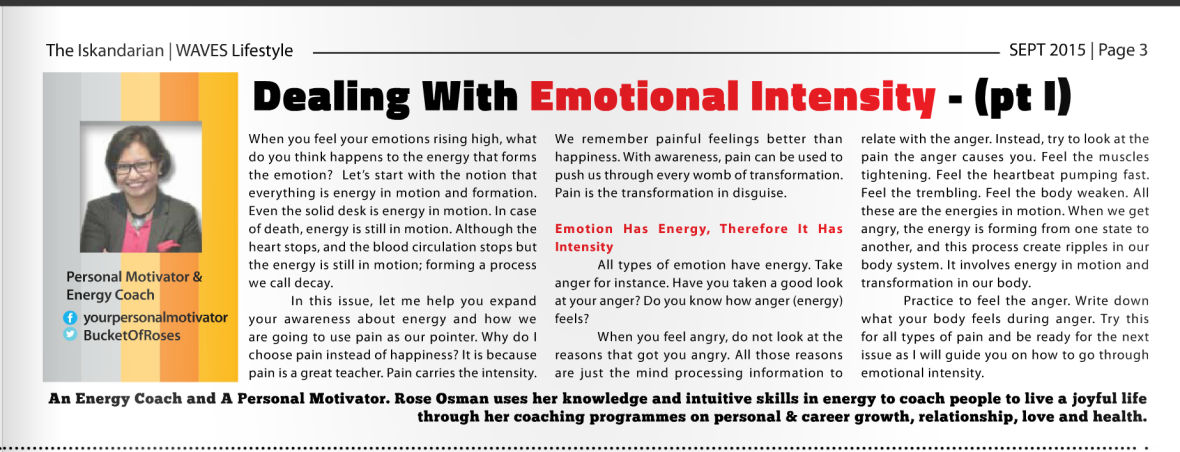 How to Deal with Emotional Intensity-Pt 1